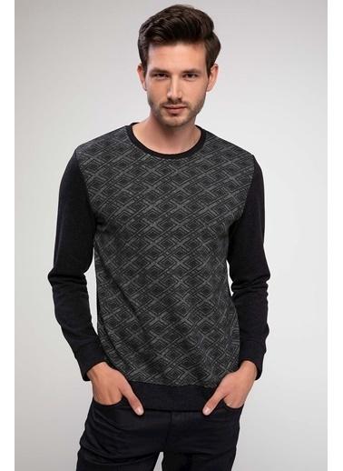 DeFacto Slim Fit Sweatshirt Antrasit